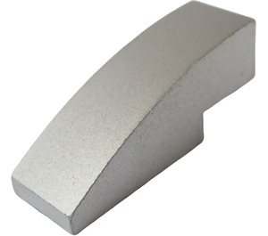 LEGO Metallic Silver Slope 1 x 3 Curved (63278)