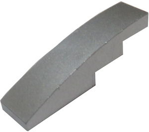 LEGO Metallic Silver Slope 1 x 4 Curved (63971)