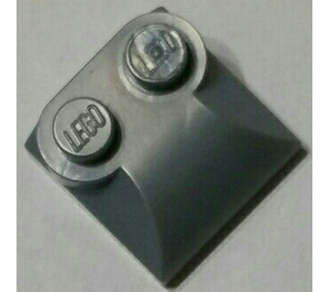 LEGO Metallic Silver Slope 2 x 2 Curved with Curved End