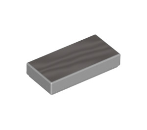 LEGO Metallic Silver Tile 1 x 2 with Groove (37293)