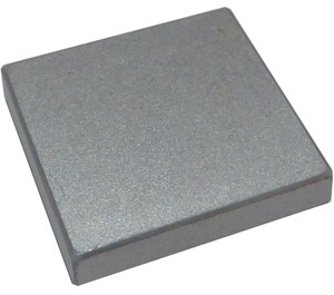 LEGO Metallic Silver Tile 2 x 2 with Groove (63327)