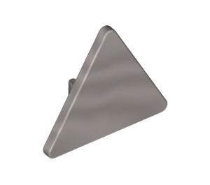 LEGO Metallic Silver Triangular Sign with Clip (39728)