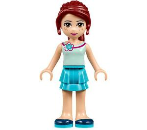 LEGO Mia, Medium Azure Layered Skirt, Light Aqua Top Minifigure