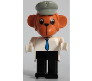 LEGO Mike Monkey with Light Gray Hat Fabuland Figure
