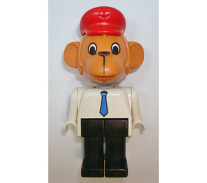 LEGO Mike Monkey with Red Hat Fabuland Figure