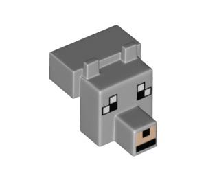 LEGO Minecraft Wolf Head (20308 / 21098)
