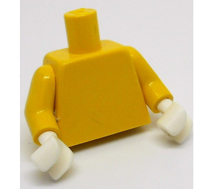 LEGO Minifig Torso with Yellow Arms and White Hands (973)
