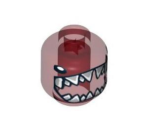 LEGO Minifigure Kopf mit Tiny Eyes und Bared Hai Zähne (Sicherheitsbolzen) (3626 / 94355)