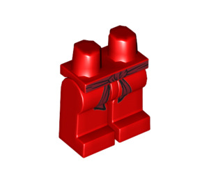LEGO Minifigure Hips and Legs with Dark Red Sash (93755 / 94300)
