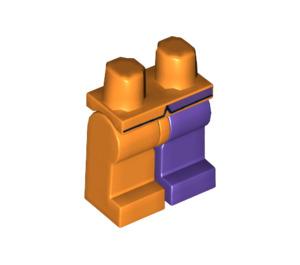 LEGO Minifigure Hips with Dark Purple Left Leg, Orange Right Leg and Coattails Decoration (10330 / 73285)