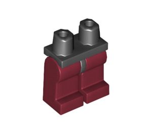 LEGO Minifigure Hips with Dark Red Legs (3815 / 73200)