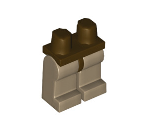LEGO Minifigure Hips with Dark Tan Legs (3815 / 73200)