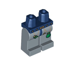 LEGO Minifigure Hüften mit Sand Blau Beine mit Dekoration (3815 / 61858)