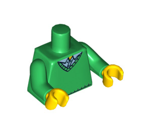 LEGO Minifigure Torso with V-neck Sweater over Blue Collared Shirt (76382 / 88585)