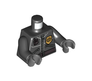 LEGO Minifigure Torso Zippered Jacket with Sheriff's Badge, Walkie-Talkie, and Zippered Pockets (76382)