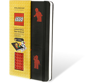 LEGO Moleskine notebook red brick, plain, large  (5001129)