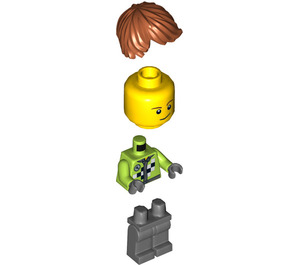 LEGO Monster Truck Driver, Lime Vest Outfit Minifigure