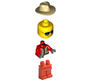 LEGO Monster Truck Driver, Red Outfit Minifigure
