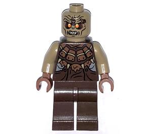 LEGO Mordor Orc Dark Tan Bald Minifigure