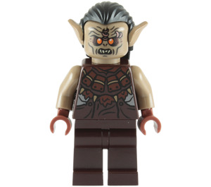 LEGO Mordor Orc Dark Tan with Hair Minifigure