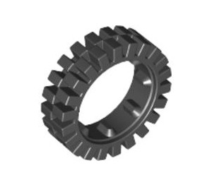 LEGO Narrow Tire 24 x 7 with Ridges Inside (3483)