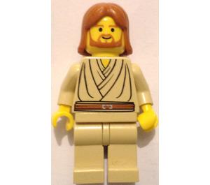 LEGO Obi-Wan Kenobi (Young) with Dark Orange Hair and no Headset Minifigure