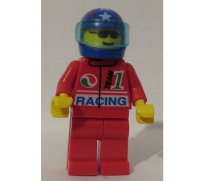 LEGO Octan Racing Blue Helmet with Stars and Stripes Pattern Minifigure