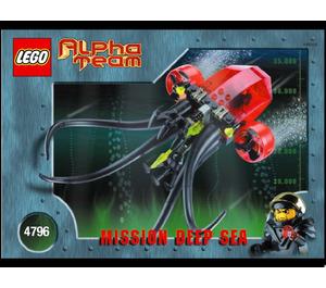 LEGO Ogel Mutant Squid Set 4796 Instructions