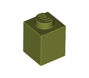 LEGO Olive Green Brick 1 x 1 (3005)