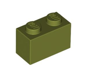 LEGO Olive Green Brick 1 x 2 (3004)