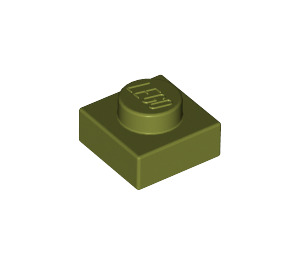 LEGO Olive Green Plate 1 x 1 (3024)