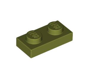 LEGO Olive Green Plate 1 x 2 (3023)