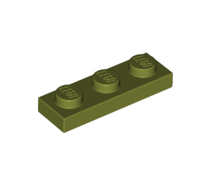 LEGO Olive Green Plate 1 x 3 (3623)