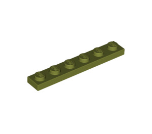 LEGO Olive Green Plate 1 x 6 (3666)