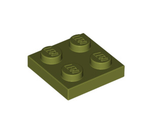 LEGO Olive Green Plate 2 x 2 (3022)