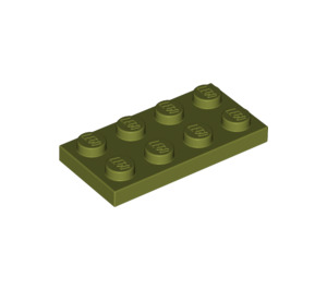 LEGO Olive Green Plate 2 x 4 (3020)