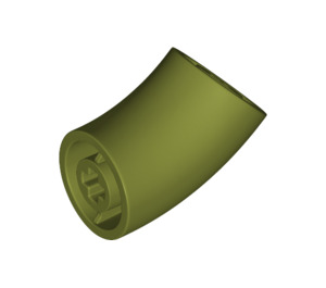 LEGO Olive Green Round Brick with 45 Degree Elbow (65473)