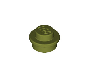 LEGO Olive Green Round Plate 1 x 1 (6141)