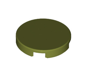 LEGO Olive Green Round Tile 2 x 2 with Bottom Stud Holder (14769)