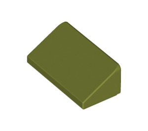 LEGO Olive Green Slope 1 x 2 (31°) (85984)