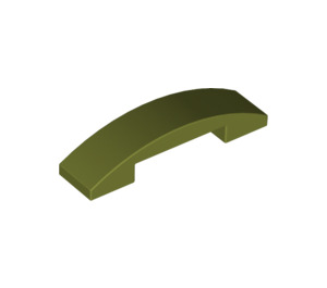 LEGO Olive Green Slope 1 x 4 Curved Double (93273)
