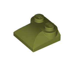 LEGO Olive Green Slope Curved 2 x 2 with Curved End (47457)
