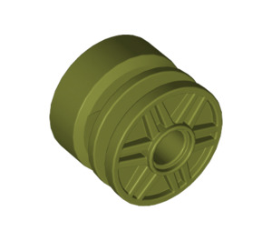 LEGO Olive Green Wheel Rim Ø18 x 14 with Pin Hole (55981)
