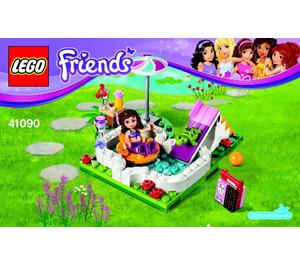 Lego Olivia S Garden Pool Set 41090 Instructions Brick