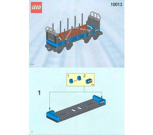 LEGO Open Freight Wagon Set 10013 Instructions