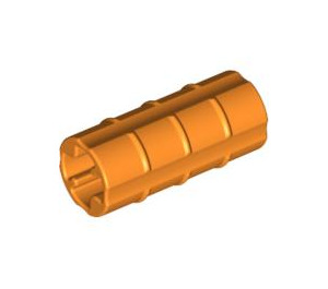 LEGO Orange Axle Connector (Ridged with 'x' Hole) (6538)