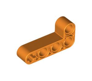 LEGO Orange Beam 2 x 4 Bent 90 Degrees, 2 and 4 holes (32140)