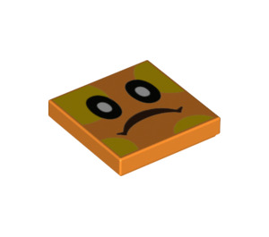 LEGO Orange Bramball Tile 2 x 2 with Groove (76890)