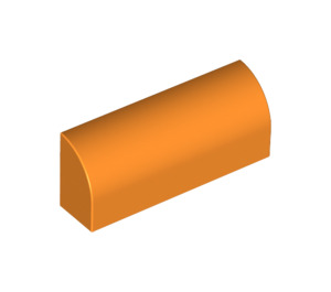 LEGO Orange Brick 1 x 4 with Curved Top (6191 / 10314)