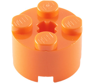 LEGO Orange Brick 2 x 2 Round (6143)